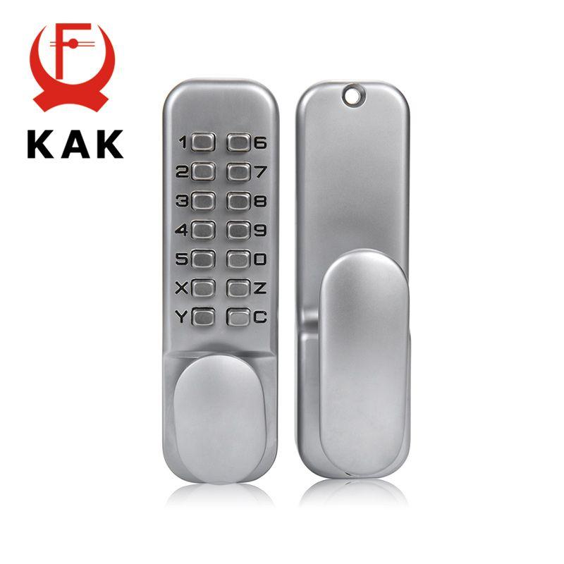 KAK serrure de porte sans clé en alliage de Zinc serrure à combinaison mécanique serrure de porte de sécurité serrure à Code pour poignée de maison matériel de porte 3 couleurs