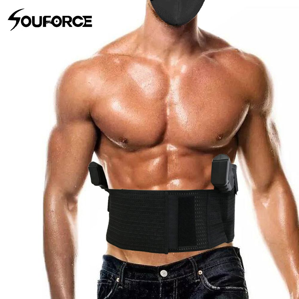 Tactical Multifunction Universal Abdominal Band Pistol Holster in Black Universal for Glock Series Hunting Gun Accessory