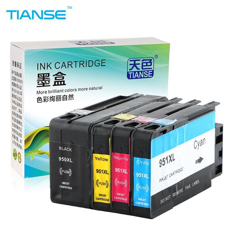 TIANSE Compatible Pour HP 950XL 951XL 950 951 Cartouche d'encre Officejet Pro 8100 8600 8610 8615 8620 8625 251dw 276dw pour HP950
