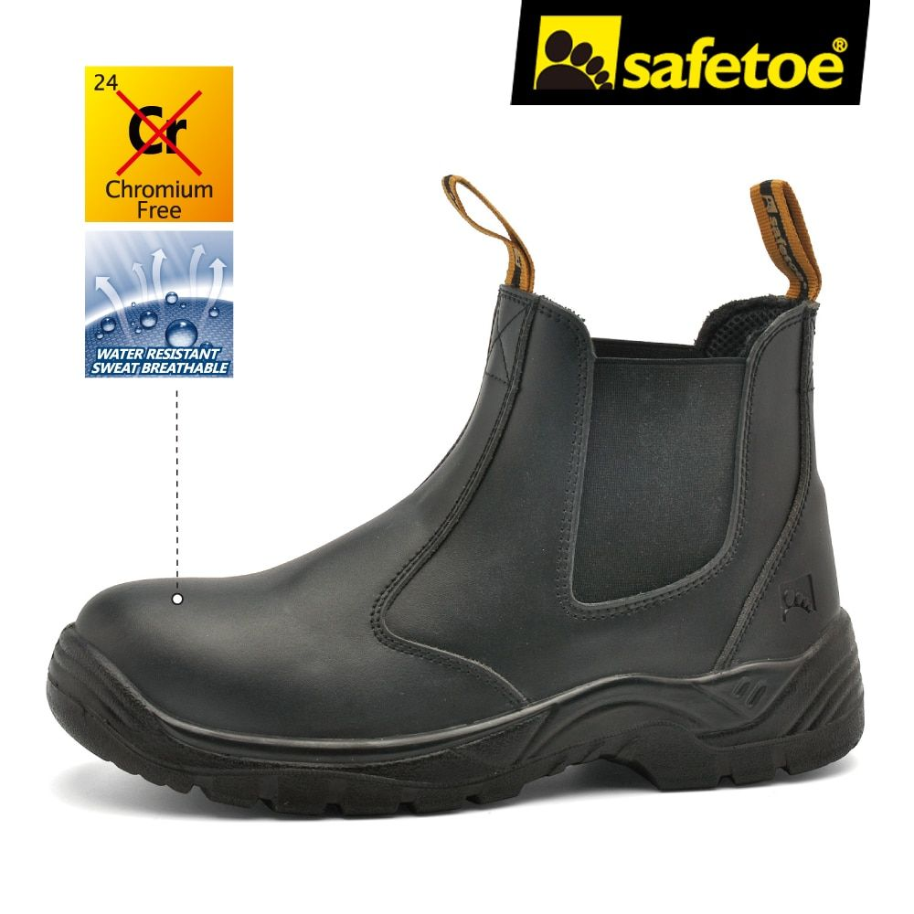 Safetoe Brand Leather Safety Shoes Mens Work Boots Work Shoes Working Safety Boots with Steel Toe Cap for Men fashion Winter