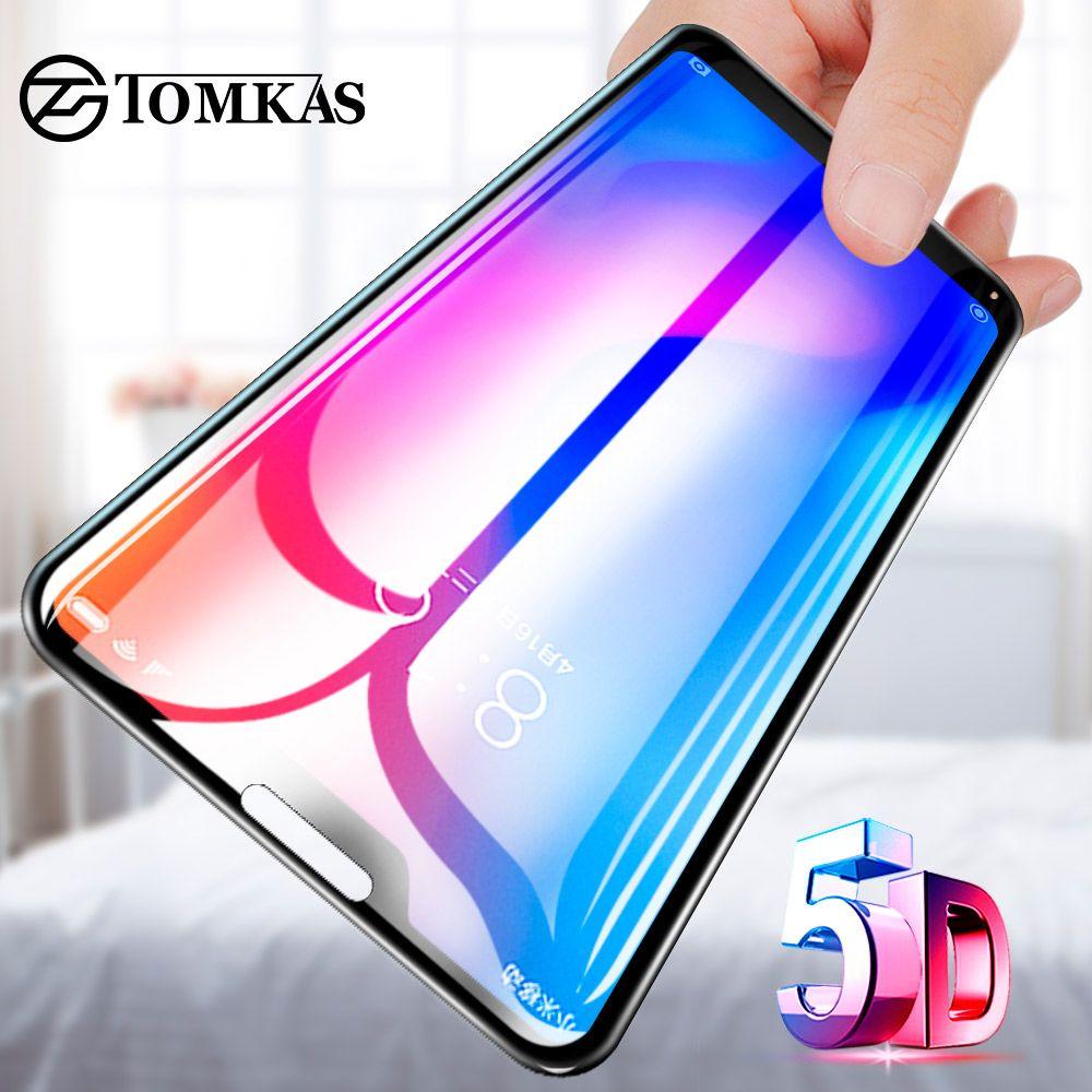 TOMKAS 5D Protective Glass For Xiaomi Redmi Note 5 4X Redmi 5 Plus 6 Pro Glass For Xiaomi Mi A1 8 SE 6 A2 6X Protective Glass