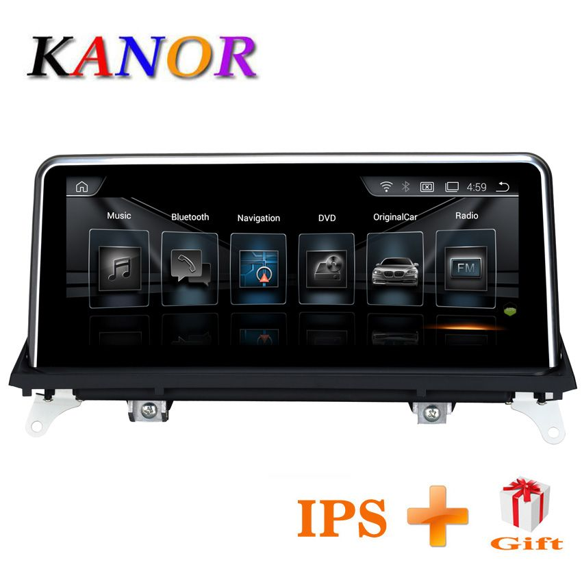 KANOR 10.25inch 2G+32G Android 7.1 car radio multimedia player for BMW X5 E70 X6 E71 2011 2012 2013 with CIC system