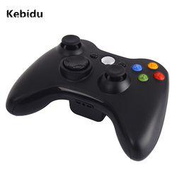 Kebidu премиум качества Тонкий Черный 2,4 ГГц беспроводной геймпад джойстика игровой джойстик для Xbox 360 игры