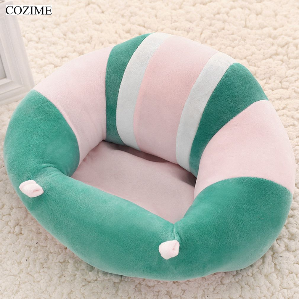 COZIME Newborn Baby <font><b>inflatable</b></font> Chair Seat Infant Babies Dining Lunch Sofa Safety Comfortable Cotton Plush Legs Feeding Portable