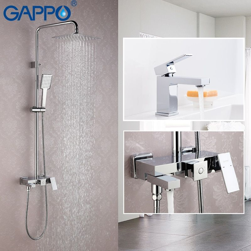 GAPPO Badewanne Armaturen wasserhahn gesetzt bronze badewanne dusche wasserhahn Bad duscharmatur edelstahl duschkopf wand mischbatterie