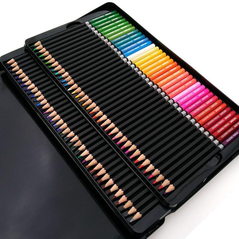 100 crayon de couleur Fine Art Lapis de cor 72 Crayons de couleur professionnels 72 Crayons de dessin d'artiste Lapis Crayons de croquis en gros