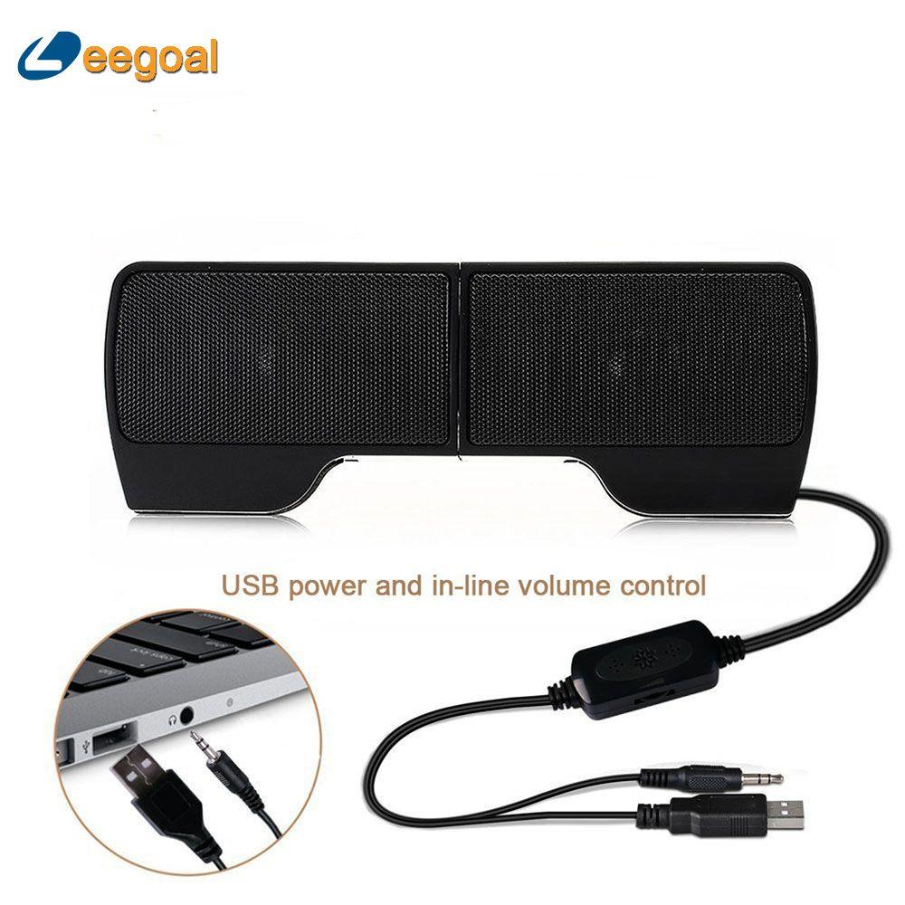 Creative Clip Speaker Mini Portable Clipon USB Stereo Speaker Line Controller Soundbar for Laptop Notebook PC Computer with Clip