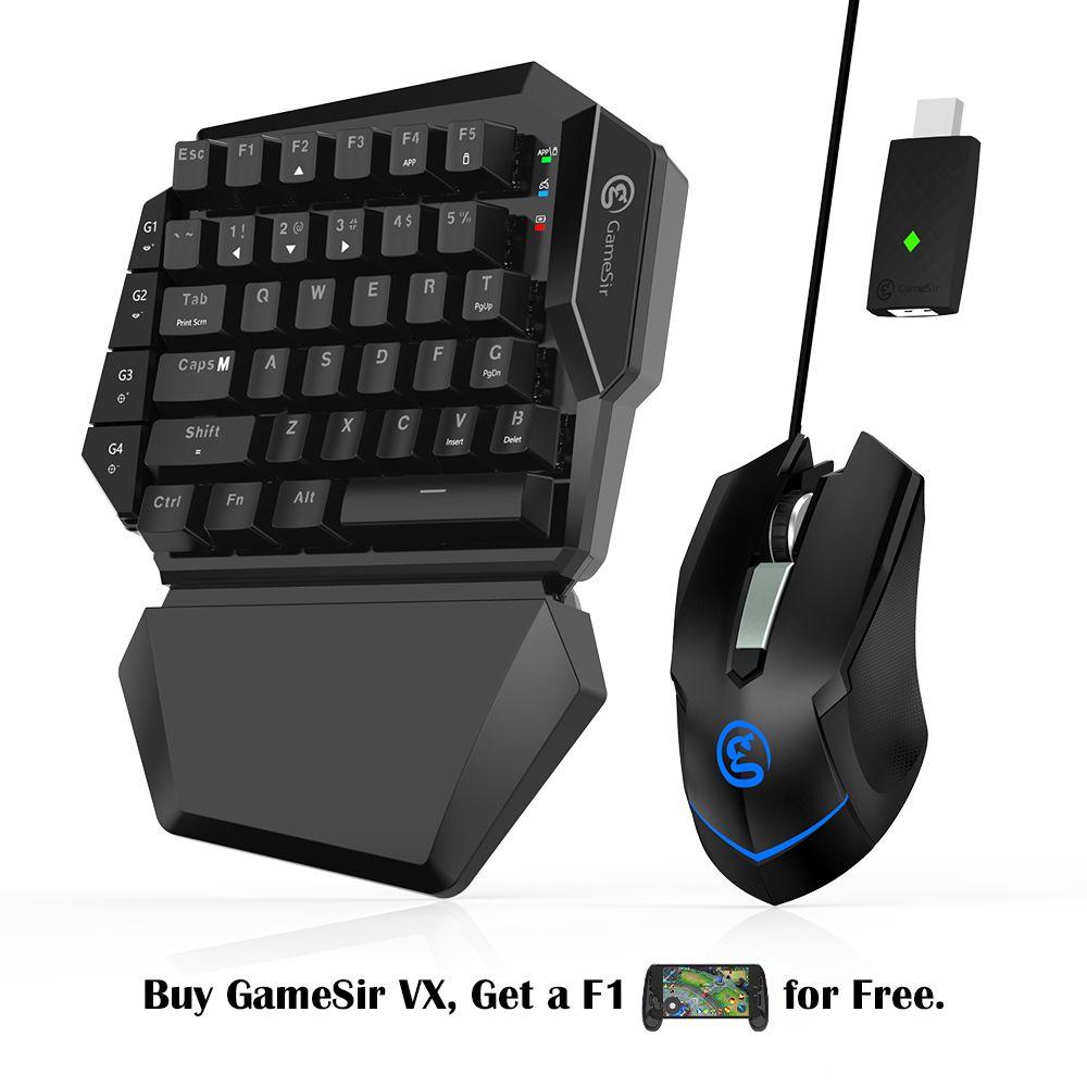 GameSir VX AimSwitch mit tastatur und maus Adapter, drahtlose Konverter (Für PS4/PS3/Xbox One/Nintendo Schalter/PC) Konsole Spiele
