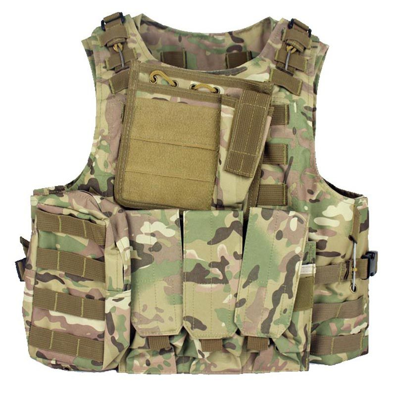 USMC Amphibious Military Tactical Airsoft Molle Vest Hunting Load bearing Suspender Mag Vest Ammo Chest Rig Paintball Harness