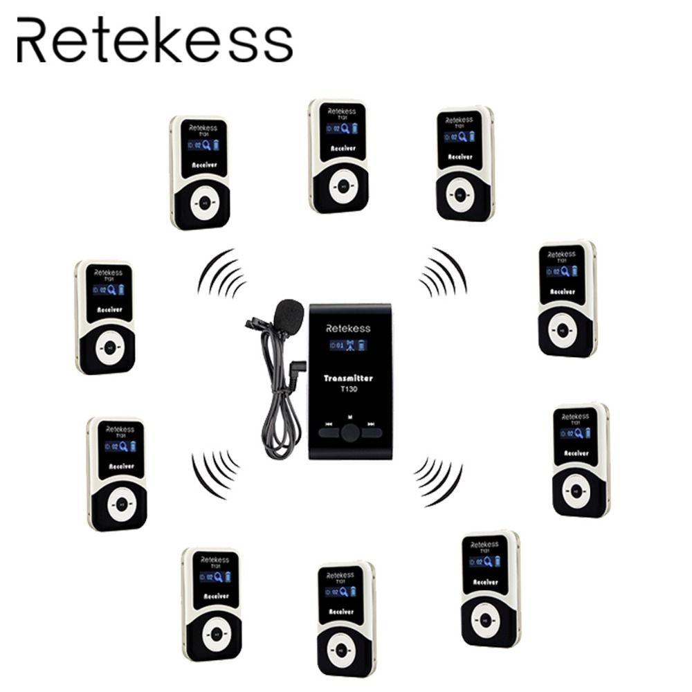 RETEKESS Wireless Tour Guide System FM Audio Sprache Interpretation System Für Konferenz Kirche Museum Tour Führung Bildung