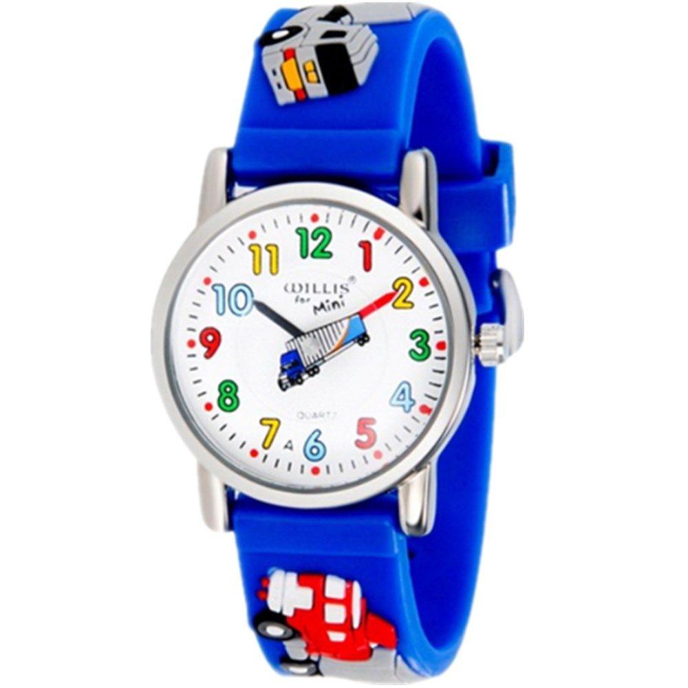 WILLIS Fashion child Waterproof 3D Lorry Cartoon Design Analog Wrist Watch Children Clock kid Quartz Wrist Watches PENGNATATE