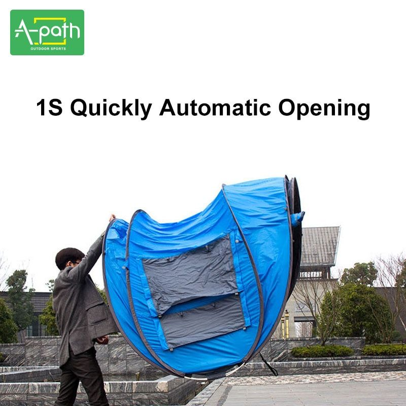 Outdoor Travel Tente Camping Automatic Tent 4 Person Beach Gazeb Awning Folding Marquee Mosquito Net Winter Tents China Single