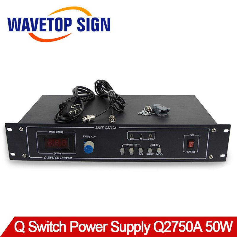 50W Q-switch Power Supply Q2750A Q-switch Driver Use for YAG Laser Mark Machine 50W