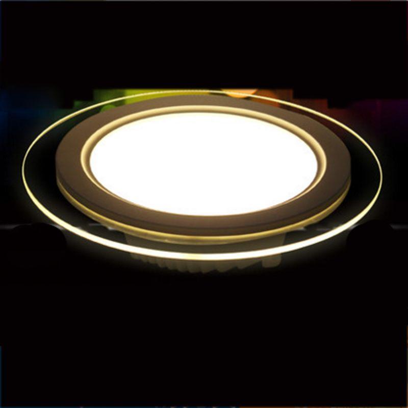 SPLEVISI Dimmable 6 w 12 w 18 w A MENÉ Le Downlight De Panneau En Verre Rond de Plafond De Lumières De Panneau Encastré Lampes AC 220 v 240 v