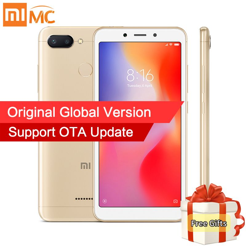 In Stock Global Version Xiaomi Redmi 6A 2GB 16GB MTK Helio A22 Quad Core 5.45