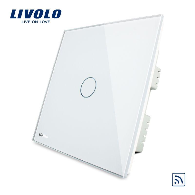 Livolo UK standard Ivory  Crystal Glass Panel, Home Remote Light Switch, AC 220-250V VL-C301R-61/62/63,No Remote Controller