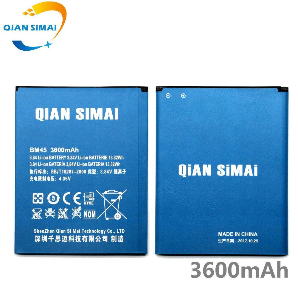 QiAN SiMAi Pour Xiaomi Redmi Note 2/Hongmi Note 2 Téléphone 1 PCS Nouveau 100% Haute qualité 3600 mAh BM45 BM 45 batterie + piste code
