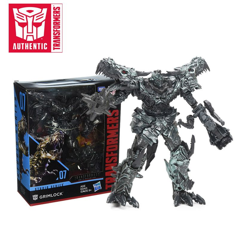 22CM Transformers Toys Studio Series Age of Extinction 07 Grimlock 08 Decepticon Blackout PVC Action Figures Collectible Model