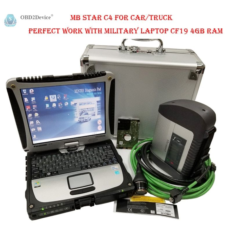 2018 mb star c4 sd connect Multi-Language mb star c4 With WIFI For Car/Truck perfect work with military laptop cf19 4GB Ram