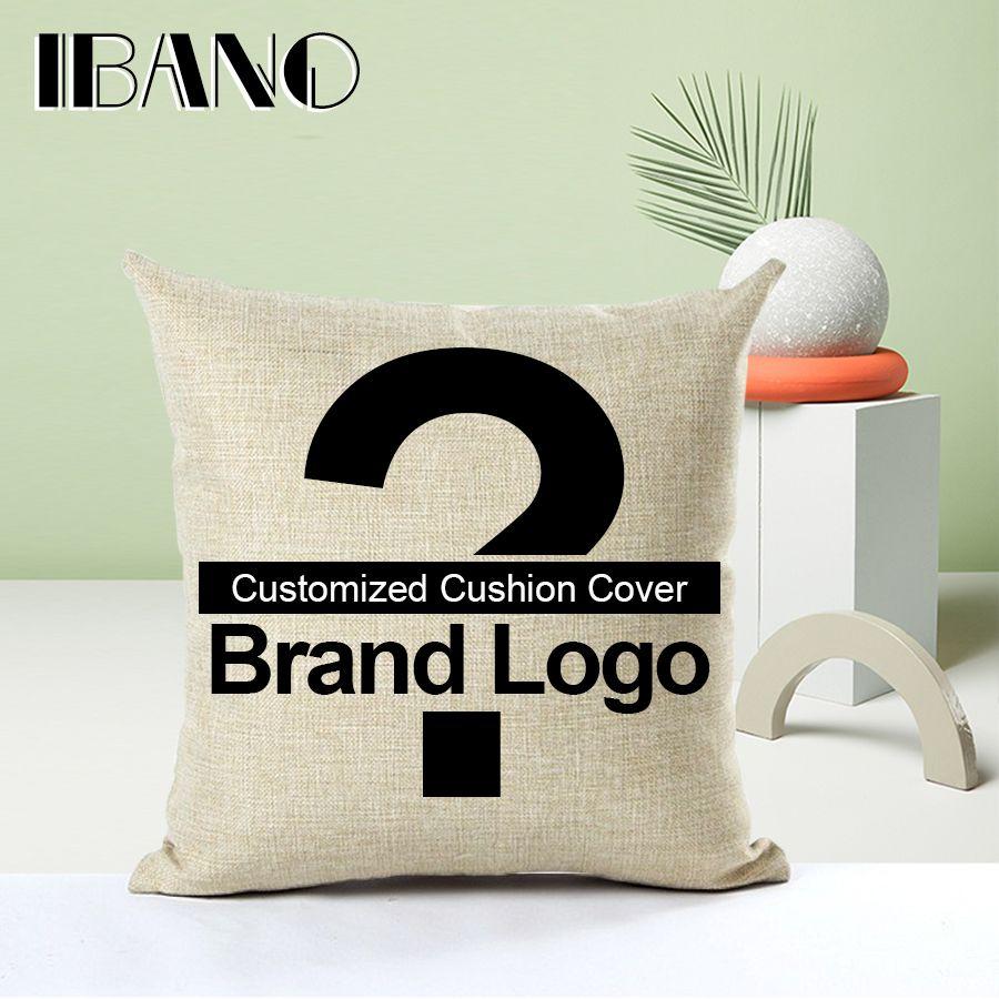 Personalizada Funda de Cojín 45x45 cm/17.7x17.7 ''de Lino Cojín Decorativo Impreso Cojín Decoración Para El Hogar Funda de almohada