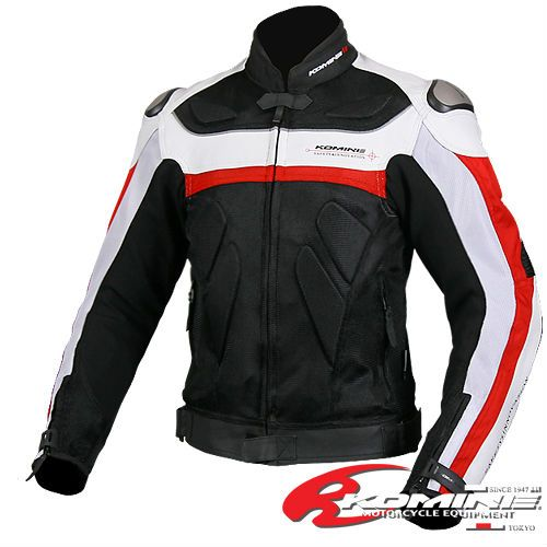 Free shipping KOMINE JK-021 The titanium leather with mesh racing suits motorcycle clothing 2Color