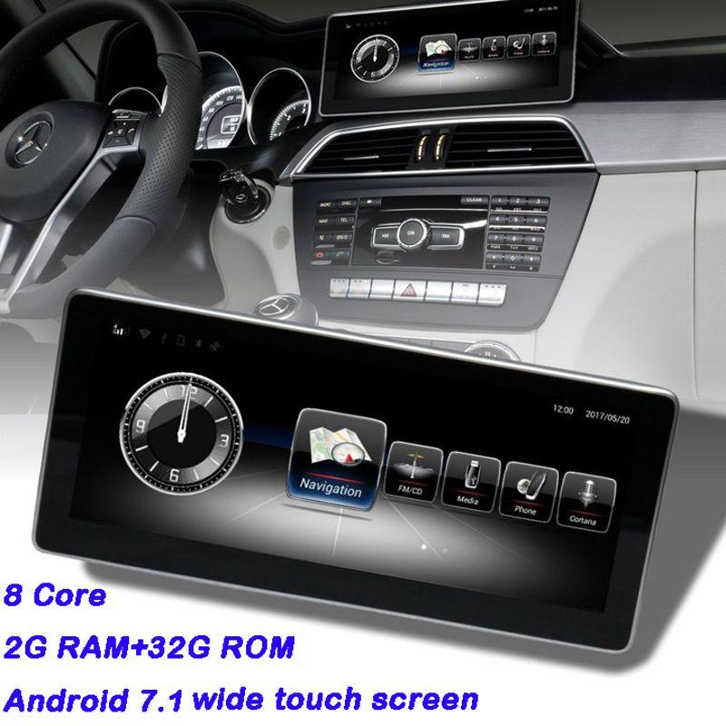 Auto Bildschirm Mercedes W204 Android Display für GLC C Klasse W205 Wifi Bluetooth Aftermarket Dashboard Navigator mit 2g RAM 8 kerne