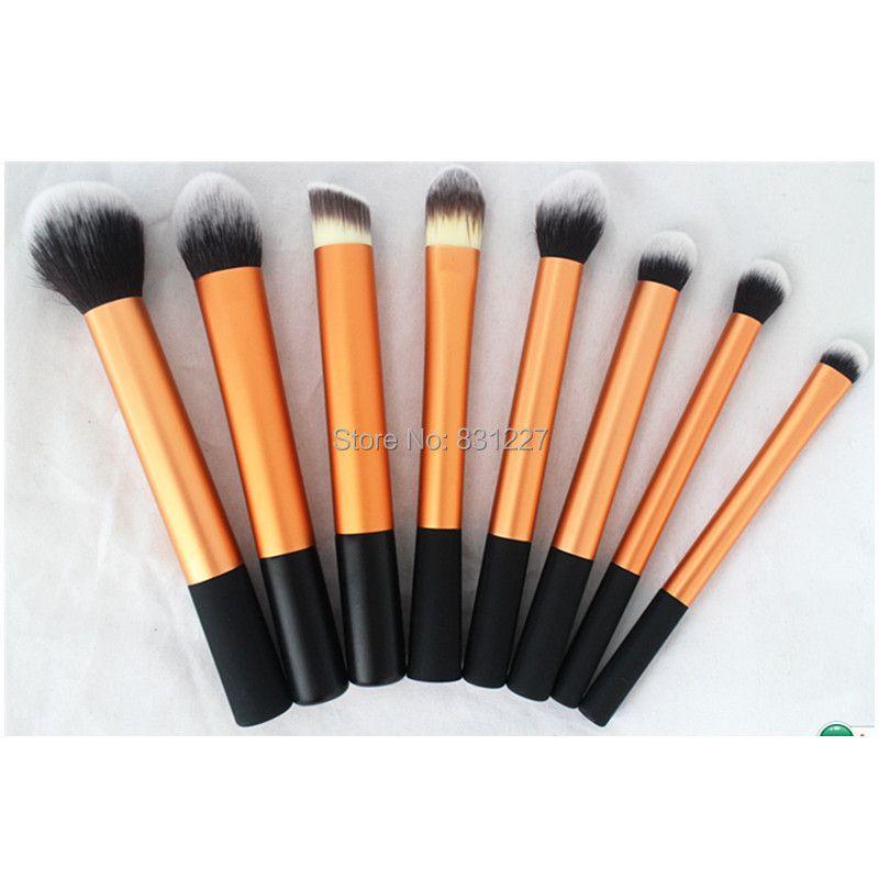 8 piece gold cosmetic makeup brush  kit, professional high quality brush set