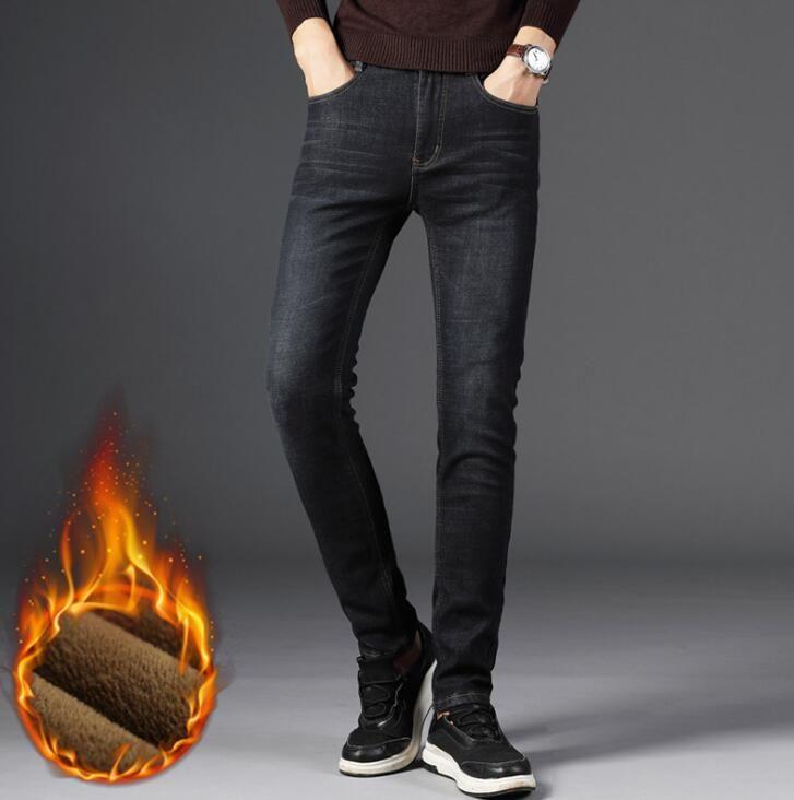 2018 élégant chaud hiver hommes casual Jeans offres spéciales Stretch pantalon mâle livraison gratuite