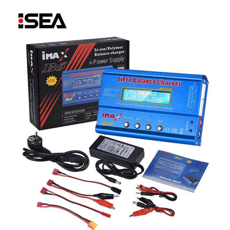 HTRC iMAX B6 80W 6A Battery Charger Lipo NiMh Li-ion Ni-Cd Digital RC IMAX B6 Lipro Balance Charger Discharger + 15V 6A Adapter