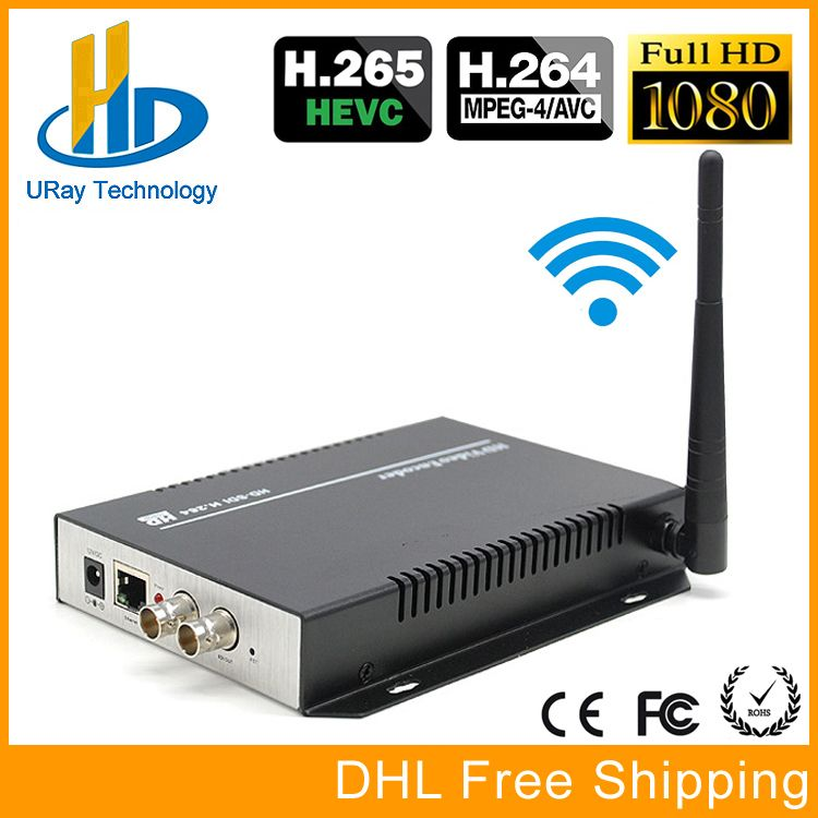URay HEVC H.265 H.264 SD /HD /3G SDI To IP Streaming Video Encoder WiFi HD-SDI 3G-SDI To Ethernet Converter Encoder Wireless