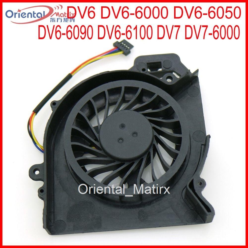 Livraison Gratuite NOUVELLE Marque MF60120V1-C181-S9A AD6505HX-EEB Pour HP Pavilion DV6 DV6-6000 DV6-6050 DV6-6090 DV6-6100 ventilateur refroidisseur de processeur