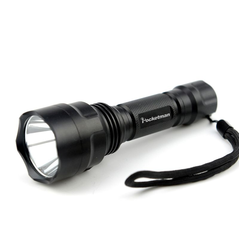LED hunting Flashlight Torch 5 Modes Powerful Flashlight Led Torch C8 T6 light lantern nitecore For 1x18650 ZK93