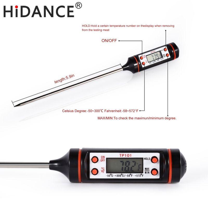 HiDANCE Elektronische Digitale Thermometer instrumente hydrometer Lebensmittel Fleisch Sonde Küche Kochen wetterstation temperatursensor