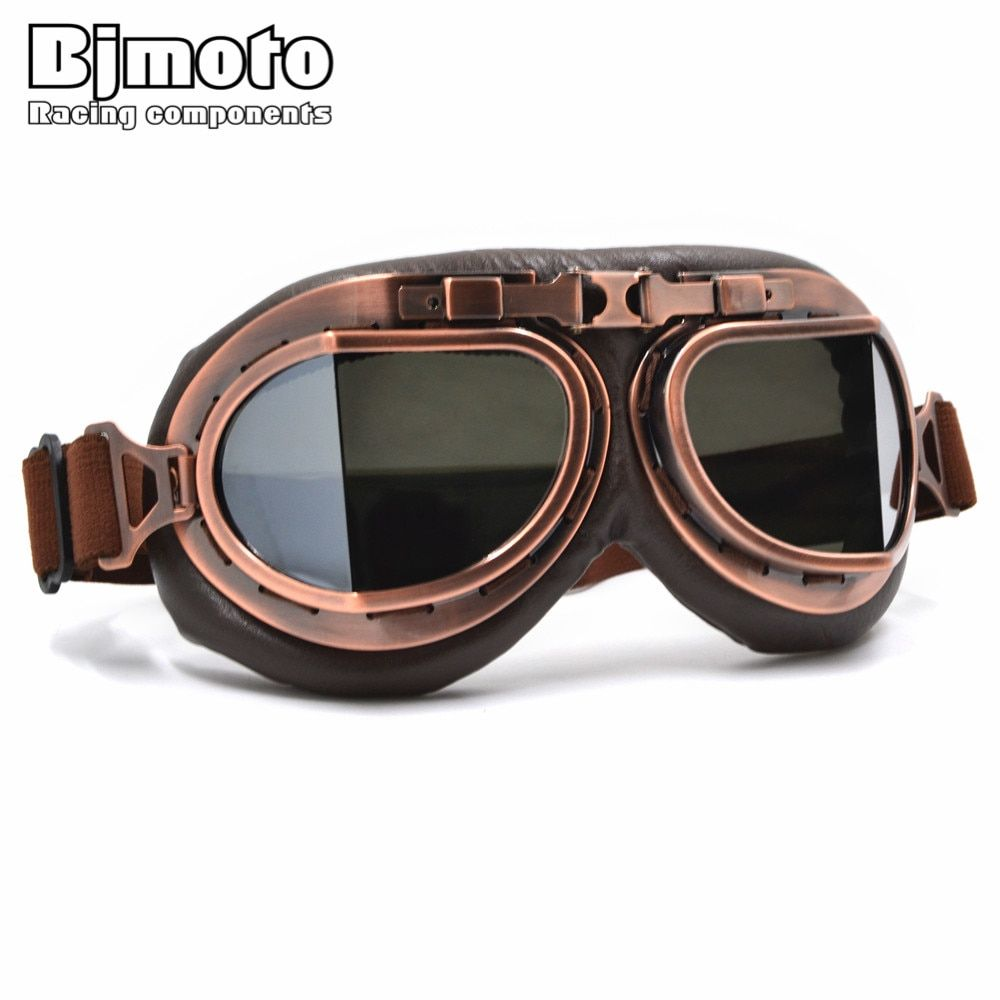BJMOTO Fashion 2016 high quality Brand New cool Retro motorcycle  goggles Harley Protection Eyewear lens goggle For helmet