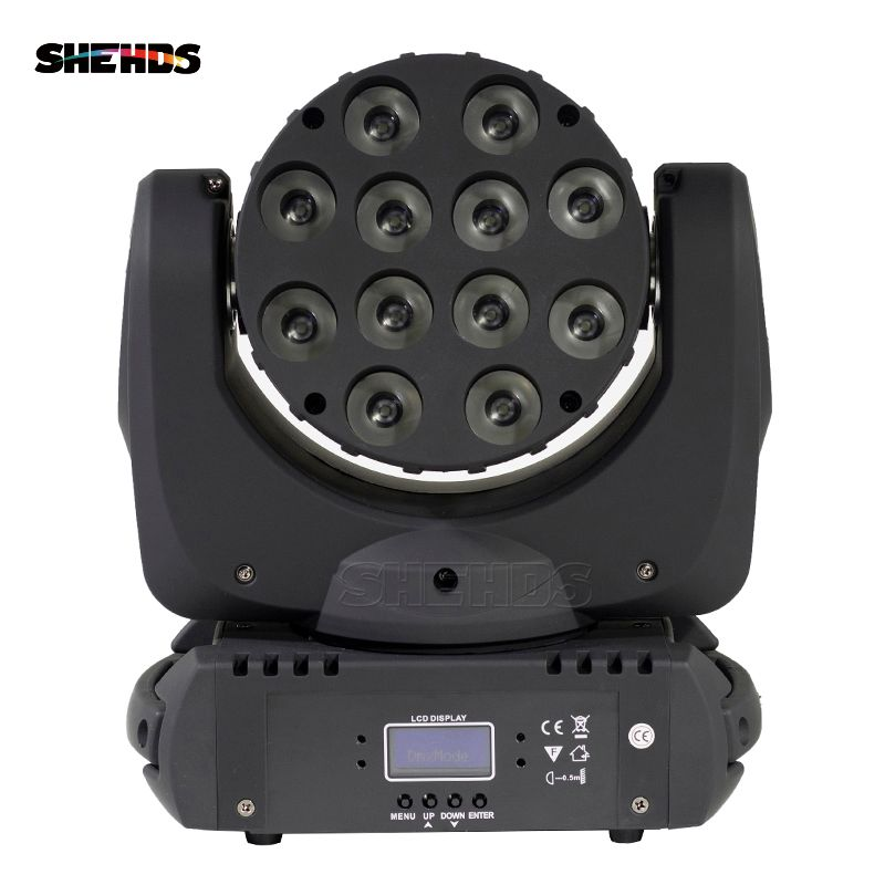 Free shipping 12x12W RGBW 4in1 Cree LED Moving Head Beam LED With Excellent Pragrams DMX 9/16 Channels For Disco DJ Party