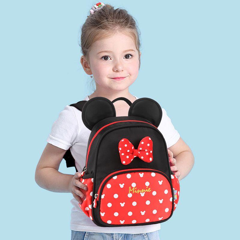 Disney Kid's Backpack Boy and Girl Schoolbag Mickey Minnie Carton Children Kindergarten Bag