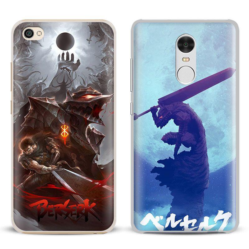 Berserker Eingeweide Anime logo Coque Telefon Fall Shell Cover Für Xiaomi Redmi Hinweis 2 3 4 4X 5A 5 Pro Mi 4 5 5 S Plus 5X6 MiA1 Mi max 2 3