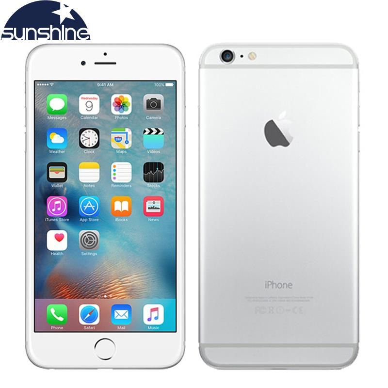 Original Unlocked Apple iPhone 6 & iPhone 6 Plus Mobile Phone 4G LTE 4.7/5.5 IPS 1GB RAM 16/64/<font><b>128GB</b></font> iOS Fingerorint Smartphone