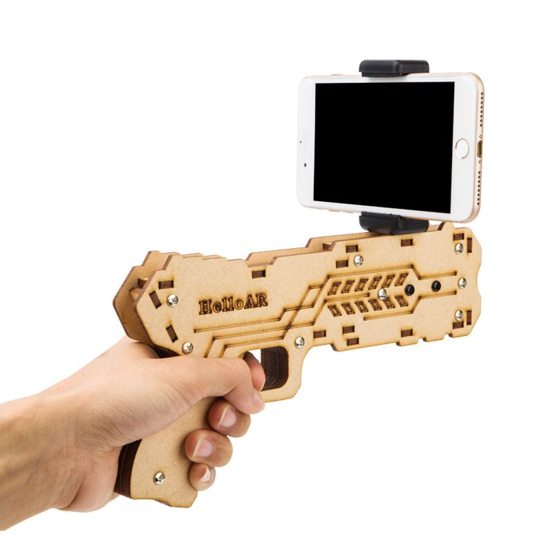 SMILYOU Portable AR Game Gun Augmented Reality Gaming Gun Support Smartphone Shooting Games DIY Toy Gun for Android iOS Phones