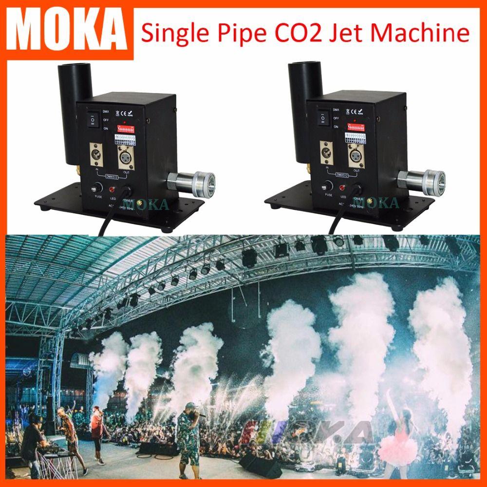 2pcs/lot Top Quality Stage Effects CO2 Jet Mini CO2 Cannon Machine DMX Control Cryo Fog Blaster