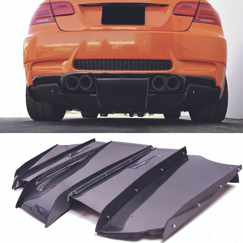 V-A Style Carbon fiber Rear Diffuser Undertray For BMW E92 M3