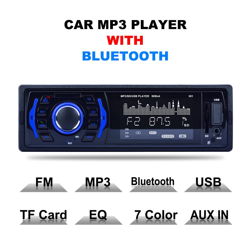 LCD Car radio cassette recorder Bluetooth Car automagnitol Stereo Audio In-dash FM Receiver Aux Input Receiver Automobiles MP3
