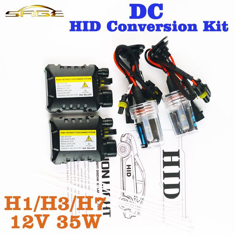 flytop XENON DC HID Conversion Kit 12V 35W H1 H3 H7 H8 H10 H11 9005 D2S D2R D2C Slim Ballast Car Bulb 4300K 6000K 8000K 30000K