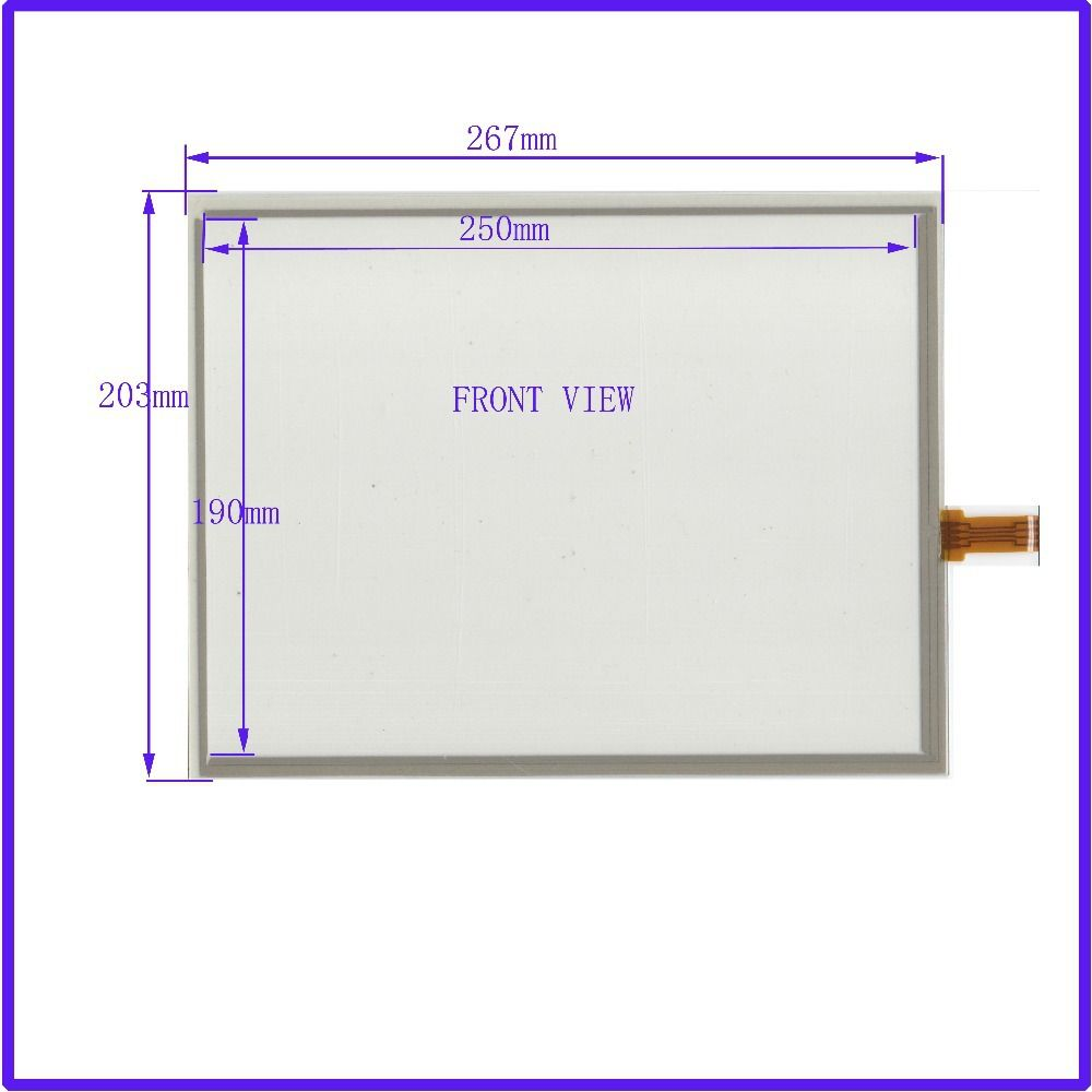 ZhiYuSun NEW 12.1Inch ELO Touch Screen 4 wire resistive USB touch panel overlay kit  267*203   Free Shipping