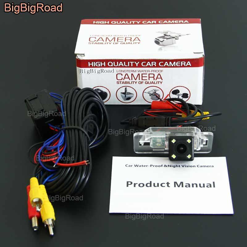 BigBigRoad Car Rear View Backup Reverse Camera with power relay / Filter For BMW E46 E39 X3 X5 X6 E60 E62 E90 E91 E92 E53 E71