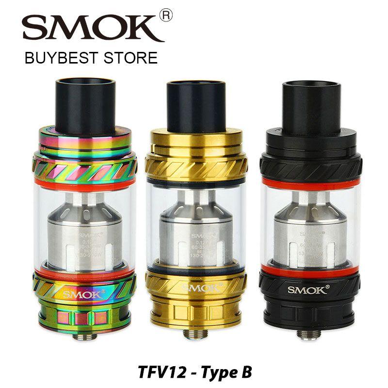 Réservoir de bête SMOK TFV12 d'origine 6 ml capacité Type B Version avec V12-RBA pré-installé/V12-RBA-T Triple bobines e-cig Vape réservoir