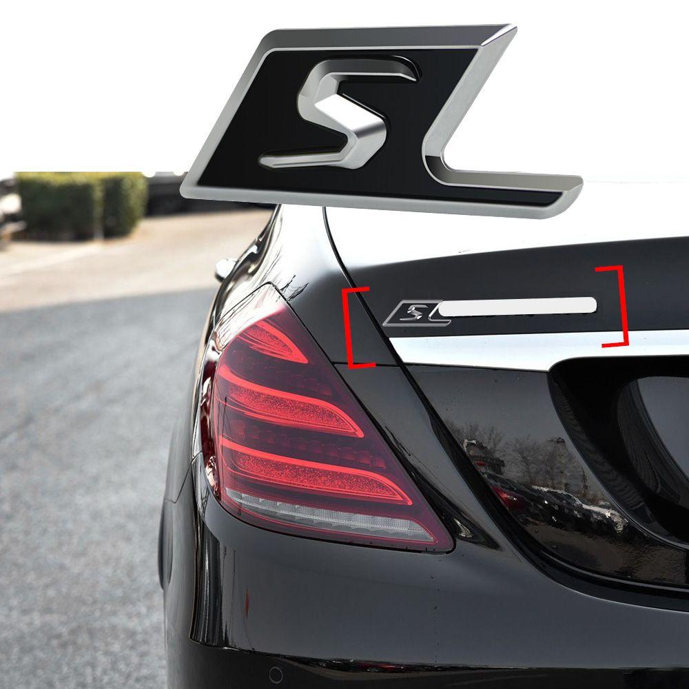 S Abzeichen Auto Trunk Logo Decor Aufkleber Für Mercedes Benz AMG CLA CLK GLA GLC GLE GT S600 S63 S212 s213 S320 G63 G500 ML320 ML350
