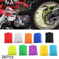 36 Pcs Moto Dirt Bike Jante à Rayons Peaux Couvre Wrap Tubes Décor Protecteur Kit Moto protection Car styling