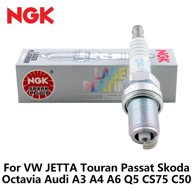 4pcs/lot NGK Car Spark Plug For VW JETTA Touran Passat Skoda Octavia Audi A3 A4 A6 Q5 CS75 C50 double platinum PFR6Q 6458