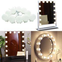 Зеркало для макияжа светодиодный свет 10/18 голливудские лампы для туалетного столика с диммером и заглушкой, соединяемые, зеркало в комплект...
